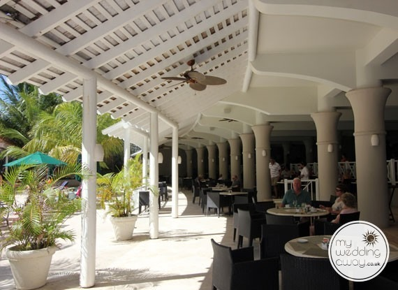 Covered terrace - Sandals Barbados at St. Lawrence Gap - Barbados wedding venue
