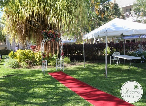 Garden setting - The Club Barbados Resort wedding venue, St. James, Barbados