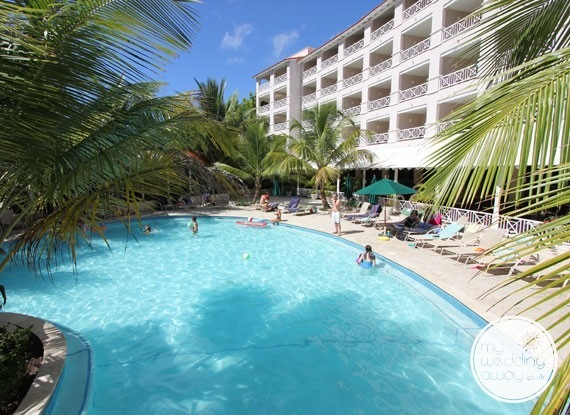 Poolside apartments - Sandals Barbados at St. Lawrence Gap - Barbados wedding venue