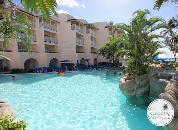 Poolside apartments - Turtle Beach at St. Lawrence Gap - Barbados wedding venue