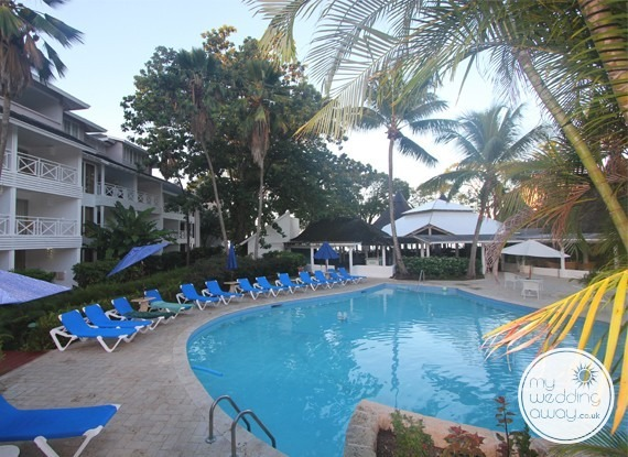 Poolside - The Club Barbados Resort wedding venue, St. James, Barbados