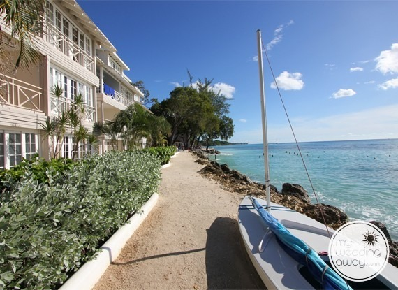 Sea view walkway - The Club Barbados Resort wedding venue, St. James, Barbados
