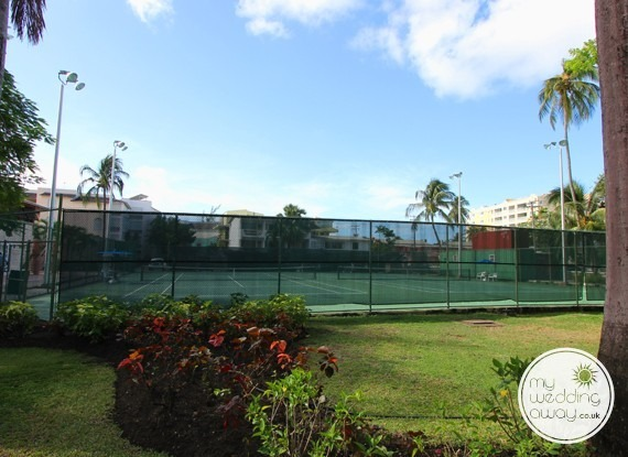 Tennis Courts - Turtle Beach at St. Lawrence Gap - Barbados wedding venue