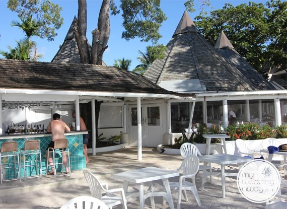 Terrace bar- The Club Barbados Resort wedding venue, St. James, Barbados
