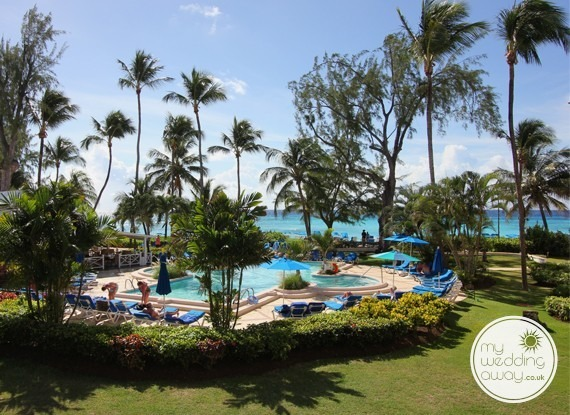 View of the pool - Turtle Beach at St. Lawrence Gap - Barbados wedding venue