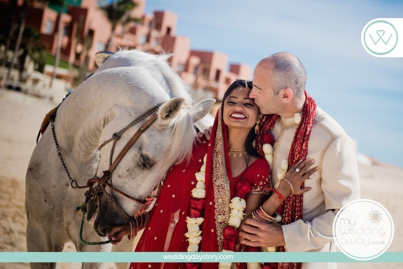 Liz Moore Blogger loves this picture of Indian couple with horse on the beach
