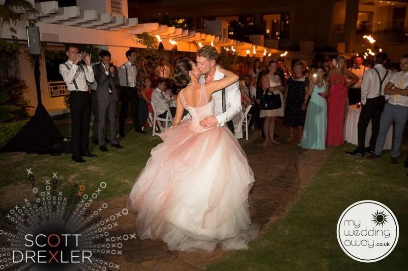 Soft flowing elegant wedding dress photo Maui Hawaii