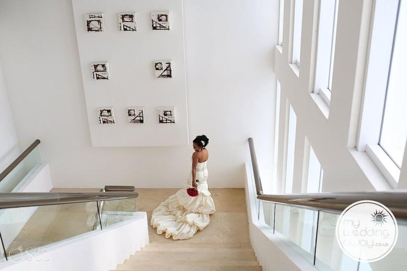 Wonderful destination wedding dress look at Mexico Resort Liz Moore