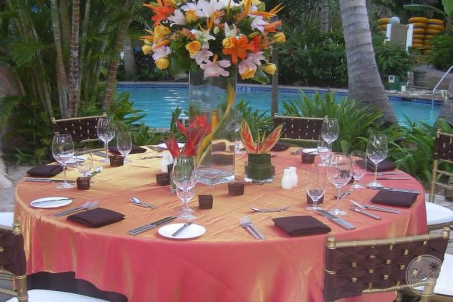 Hilton Rose Hall Wedding Reception Poolside