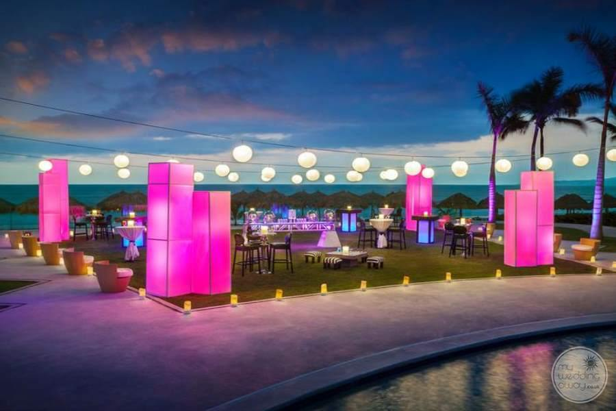 Hard Rock Vallarta Splash Terrace Party Setup