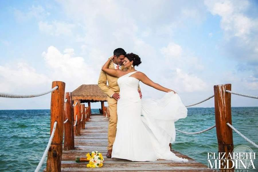 Azul Beach Hotel Elizabeth Medina Wedding