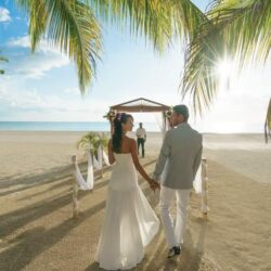 Couples Swept Away Romantic Beach Wedding