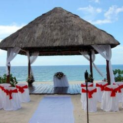 Royal Hideaway Beach Gazebo Wedding