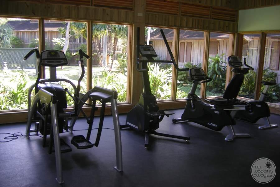 Sunset at the Palms Fitness Area 2