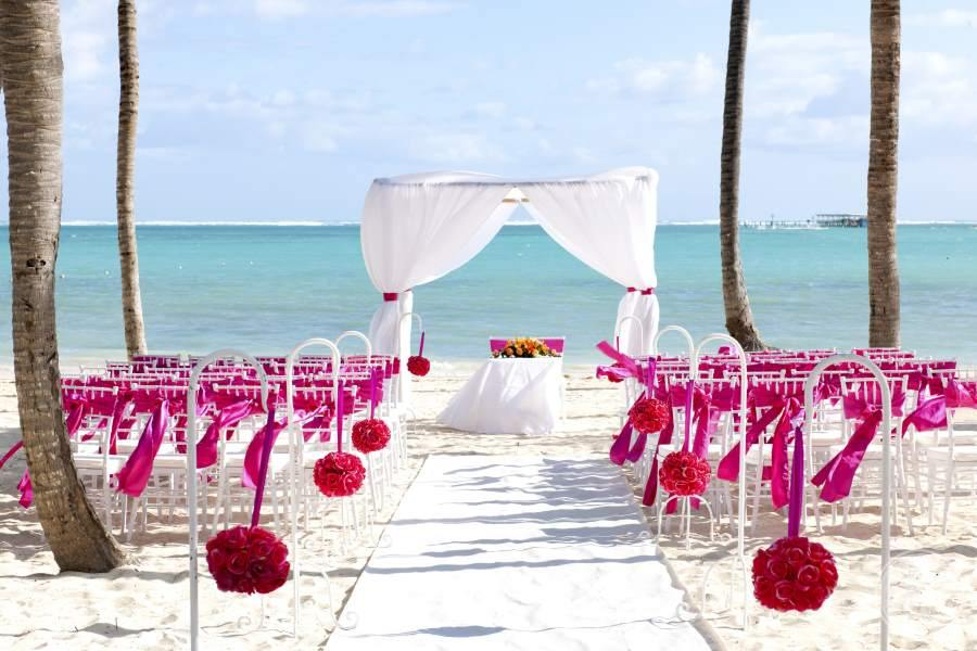 Barcelo Bavaro Palace Deluxe Beach Wedding Setup