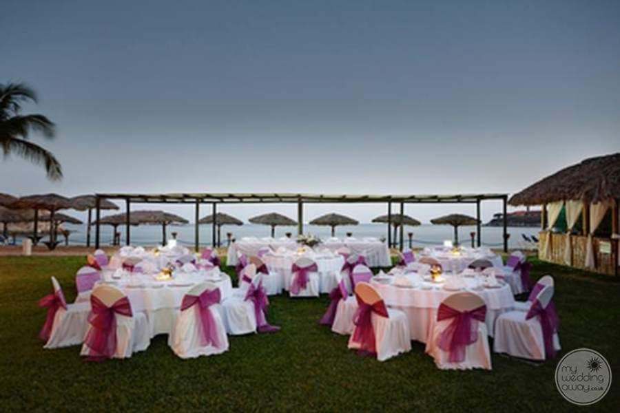 Barcelo Huatulco Destination Wedding Reception