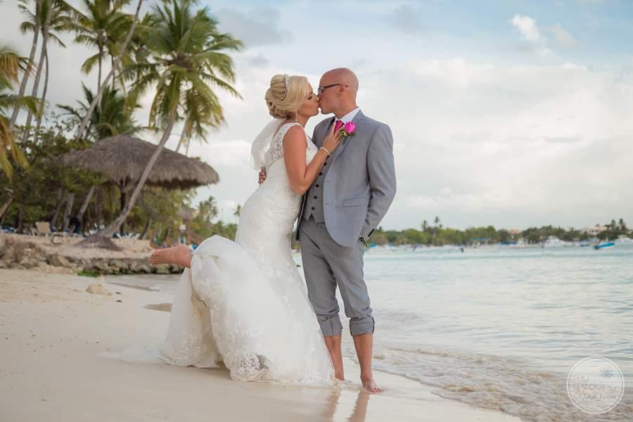 Dreams La Romana Bride and Groom on Beach