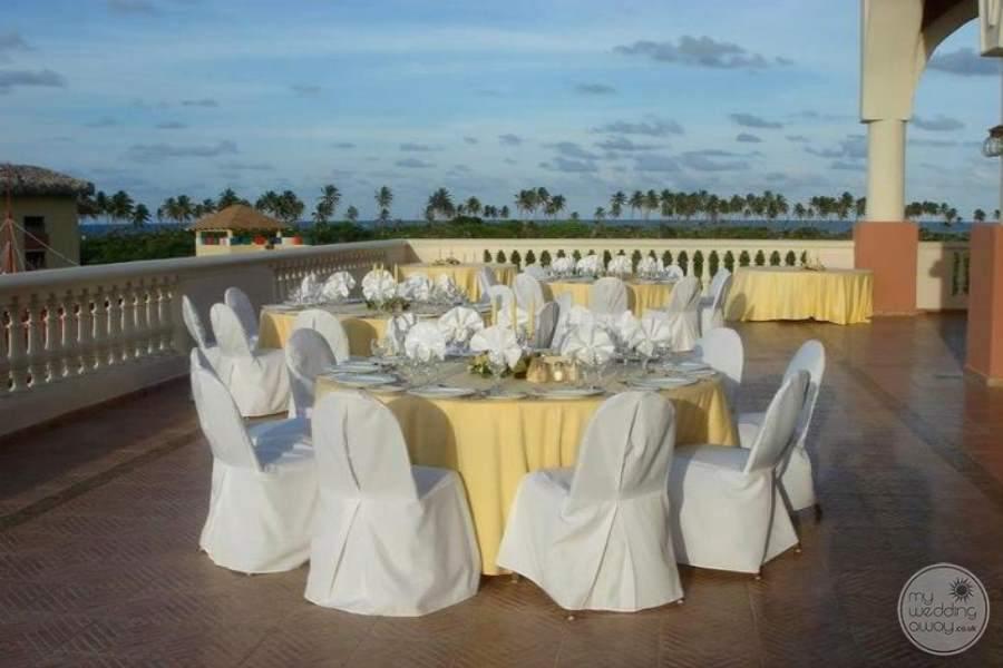 Dreams Punta Cana Wedding Reception on Terrace