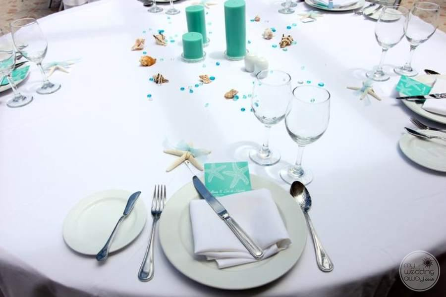 Dreams Punta Cana Wedding Table Setting