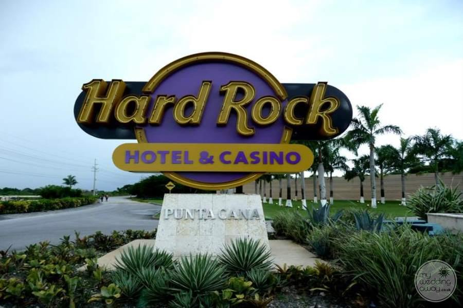 Hard Rock Hotel Punta Cana Entrance Sign