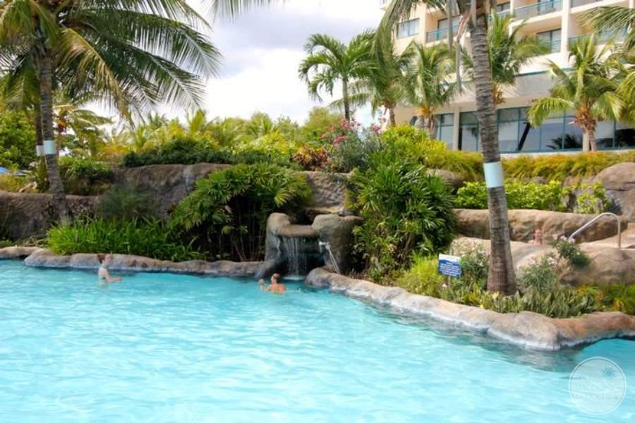 Hilton Barbados Pool Waterfall