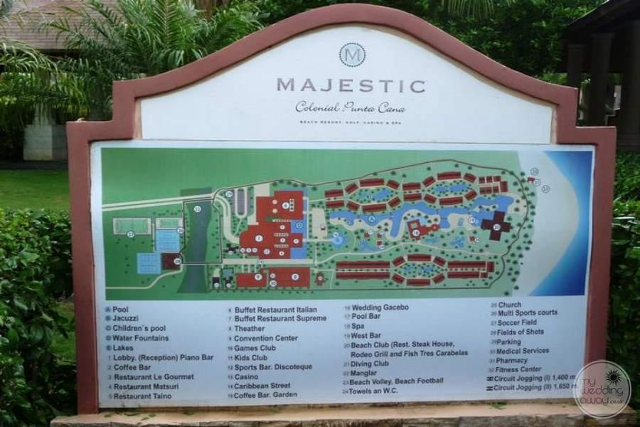 Majestic Colonial & Elegance Resort Map