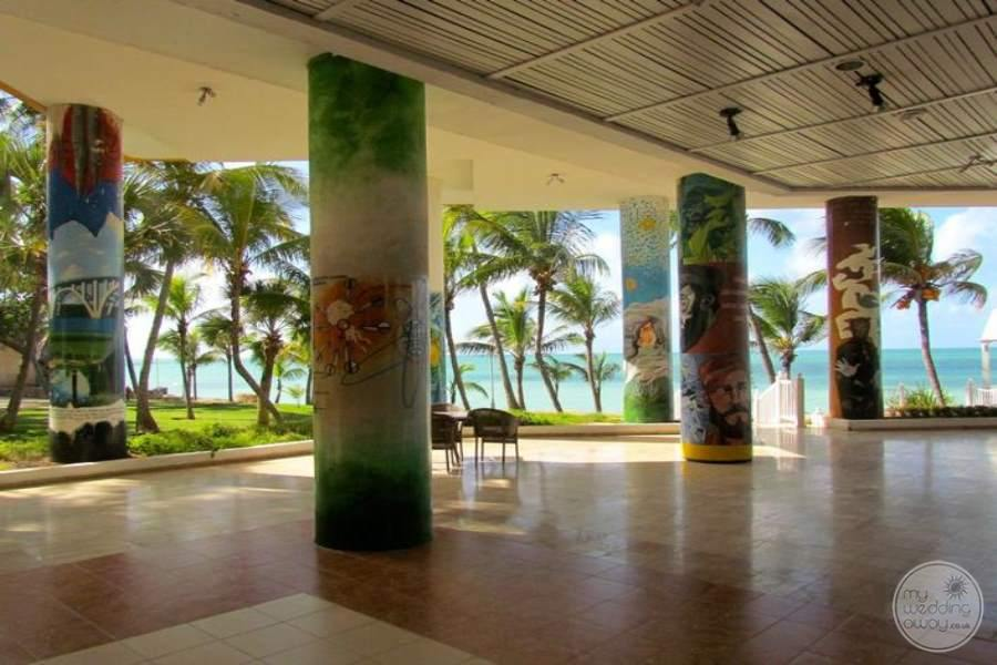 Melia Las Americas Covered Reception Area