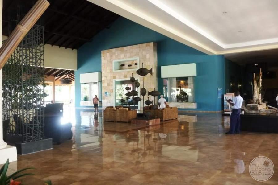 Ocean Blue and Sand Lobby
