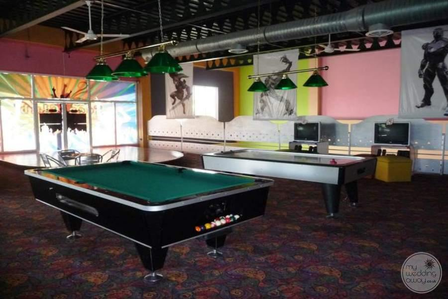 Ocean Blue and Sand Pool Table