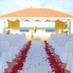 Ocean Coral and Turquesa Beach View Wedding Gazebo