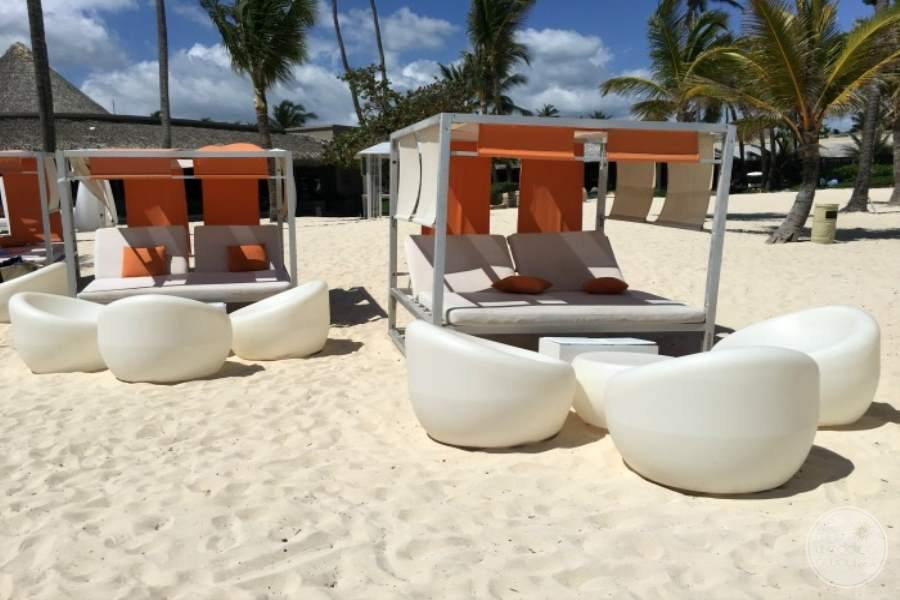 Paradisus Punta Cana Beach Beds and Chairs