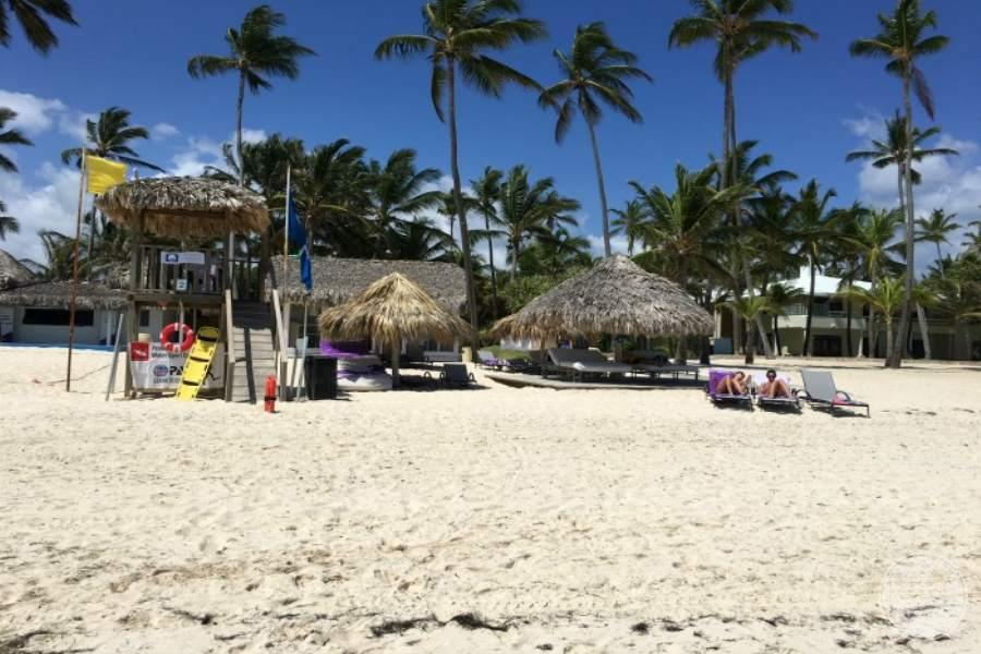 Paradisus Punta Cana Beach Lifeguart and Loungers