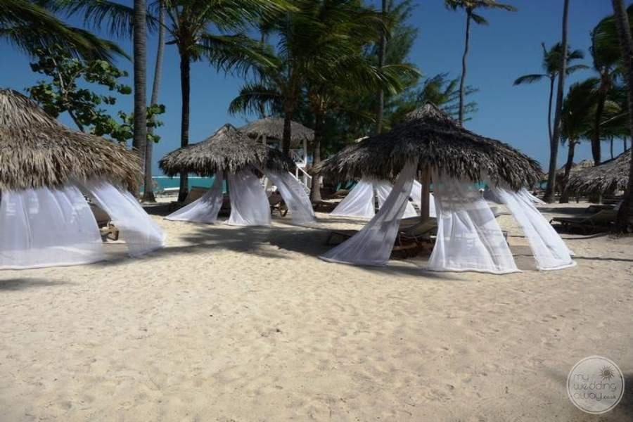 Paradisus Punta Cana Beach Umbrella with Netting