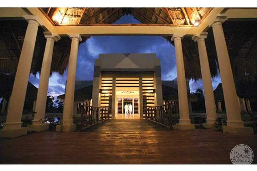 Valentine Imperial Maya Courtyard at Night