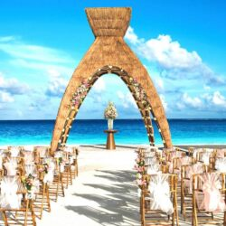 Dreams Riviera Cancun Beach Wedding Gazebo