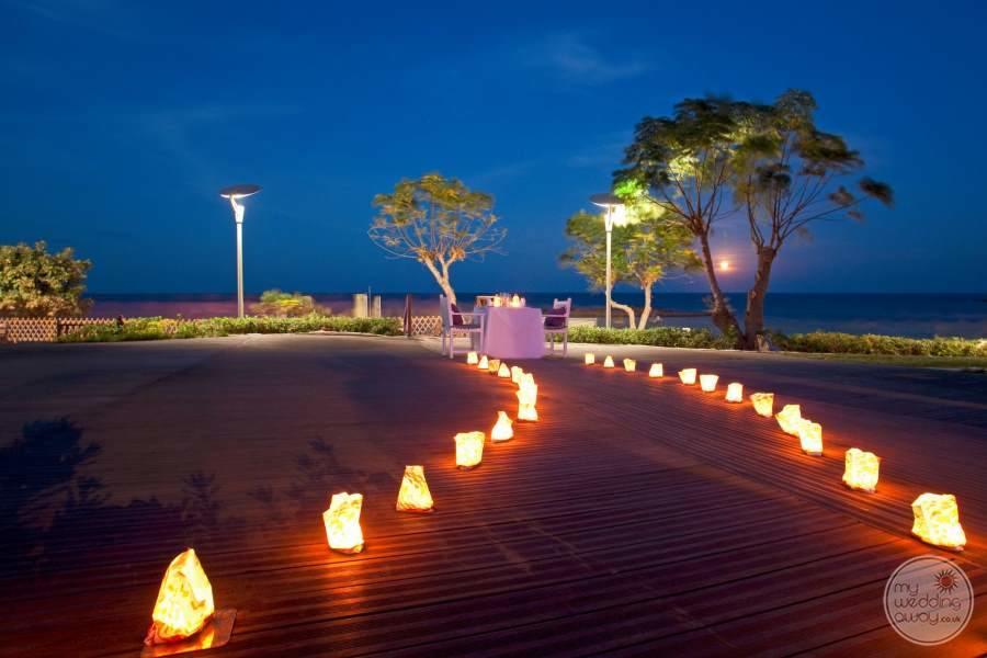 Capo Bay Hotel Walkway to Sunset Dinner