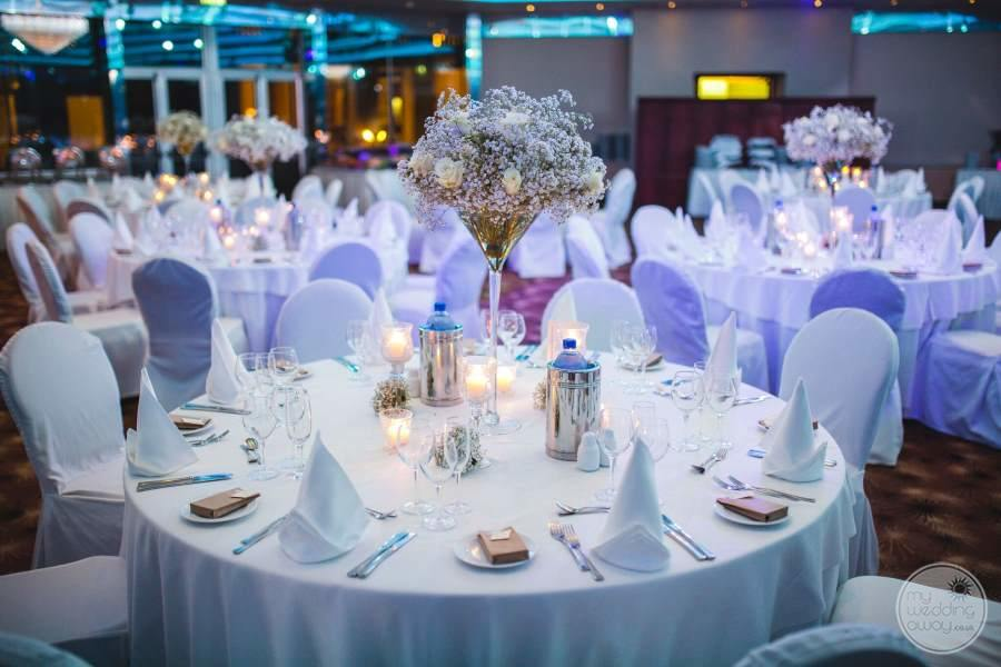 Amathus Beach Hotel Indoor Wedding Reception