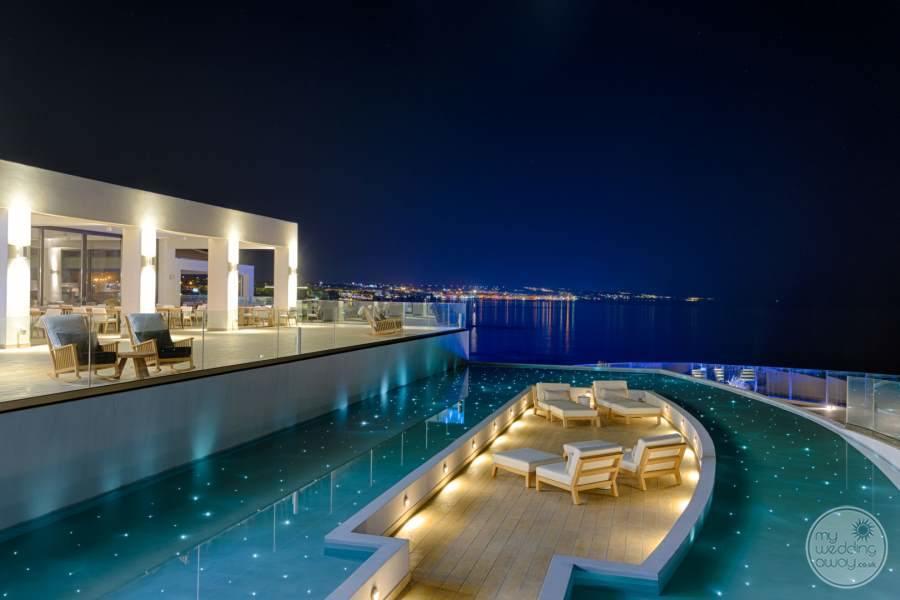 Abaton Island Resort Spa Pool at Night