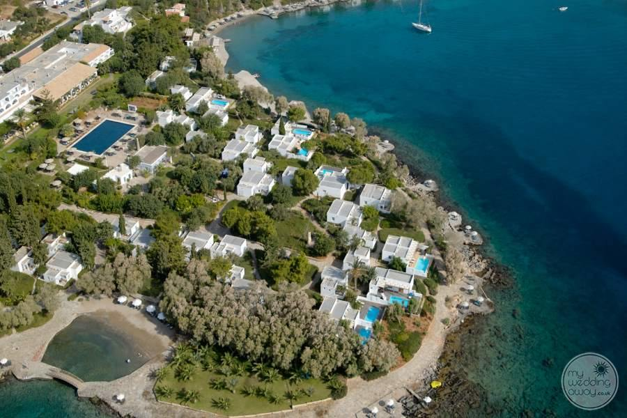 Minos Beach Art Hotel Aerial View