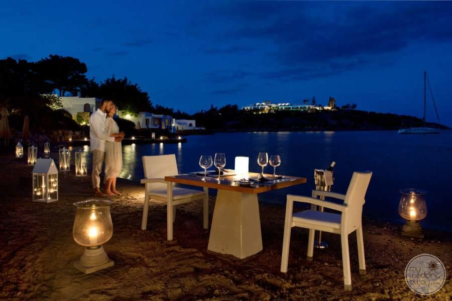 Minos Beach Art Hotel Evening Dining
