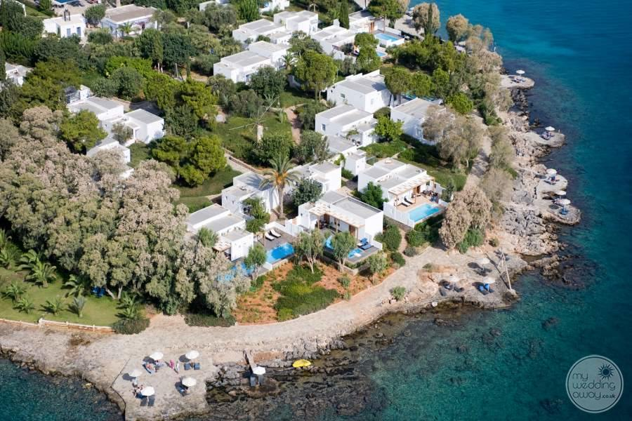 Minos Beach Art Hotel from Above