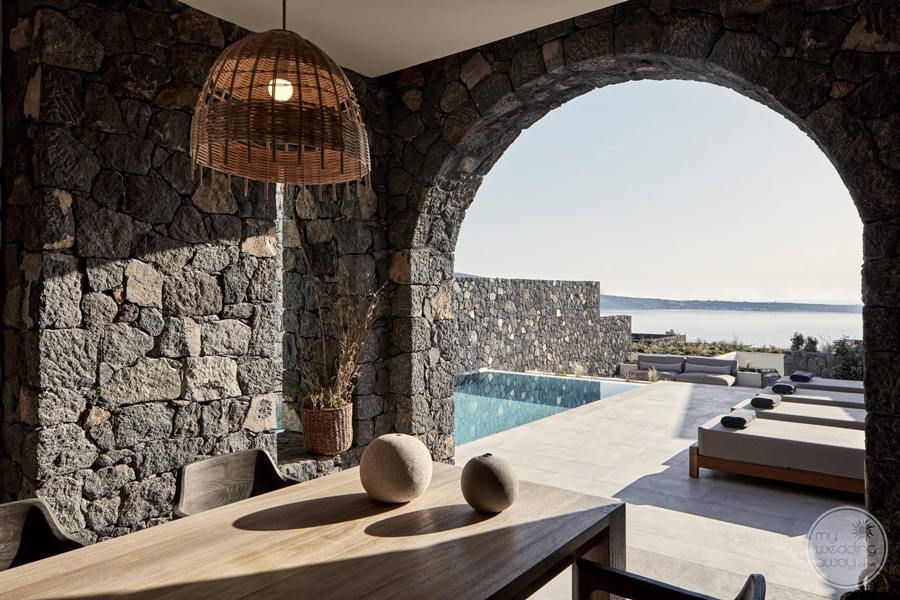 Canaves Oia Pool and Seating