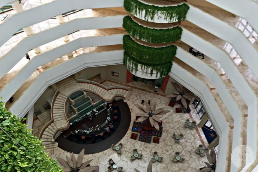 Iberostar Cancun Lobby from Above