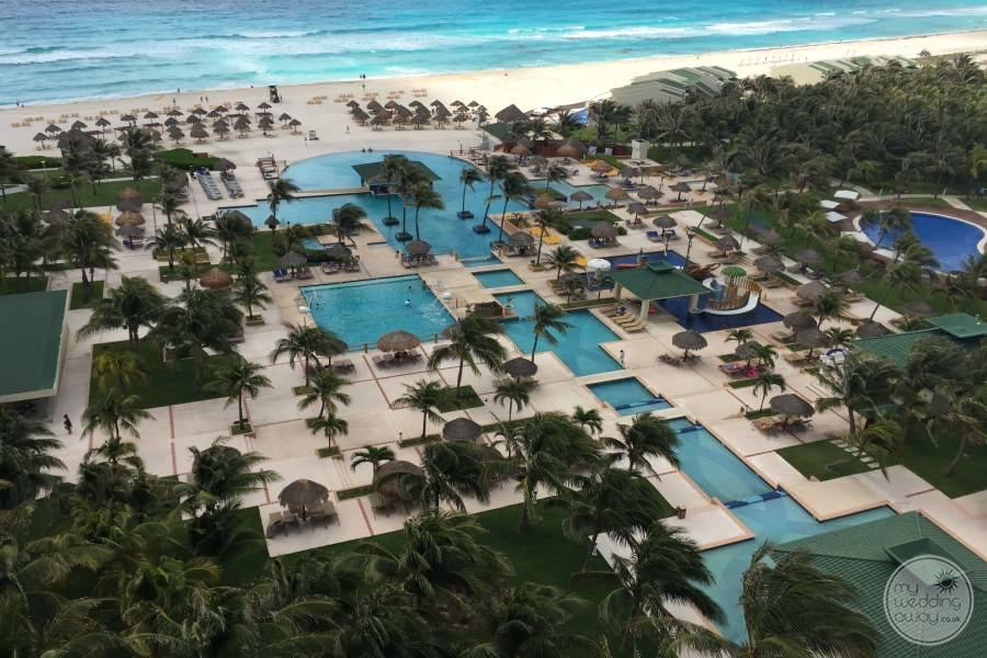 Iberostar Cancun Resort from Above