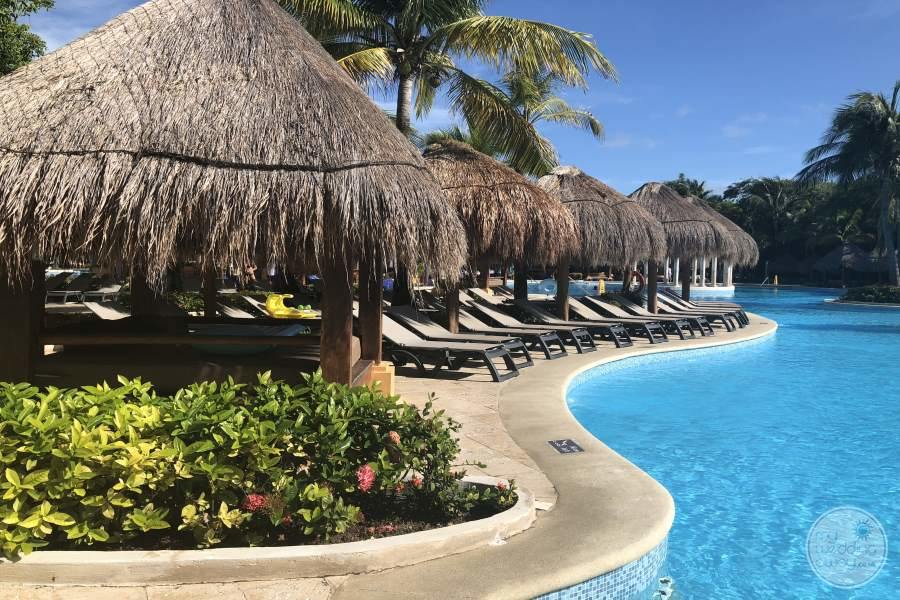 Iberostar Paraiso Beach Pool Lounge Umbrellas