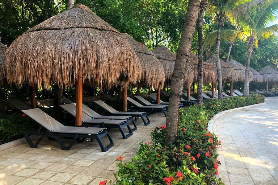 Iberostar Paraiso Del Mar Lounge Chairs Umbrellas