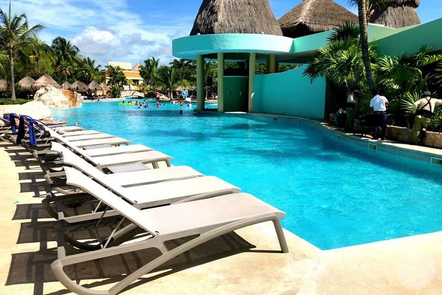 Iberostar Paraiso Maya Pool Lounge Chairs