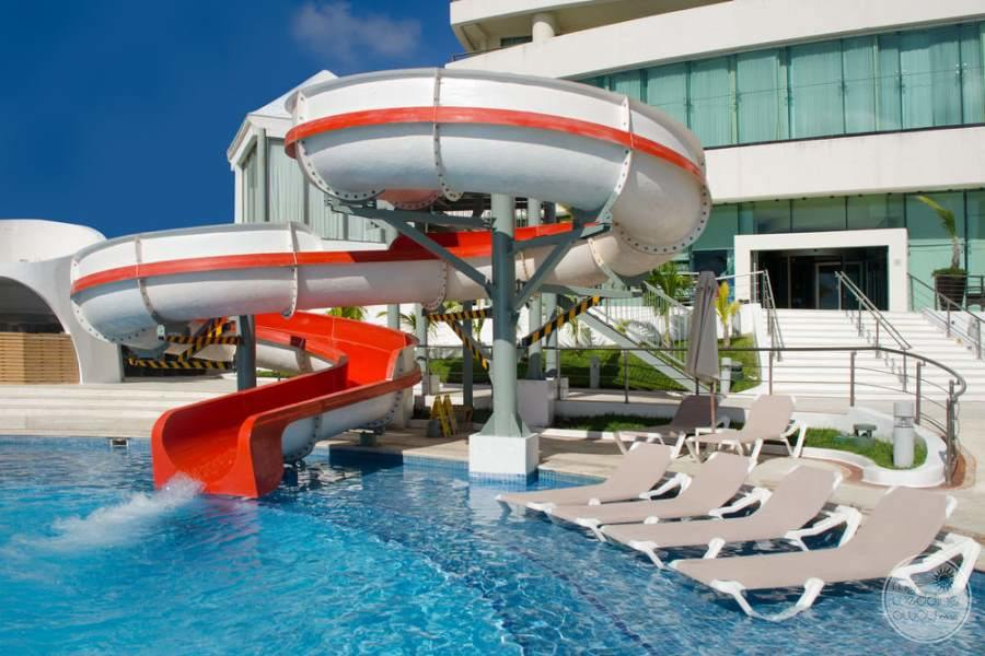 Beach Palace Waterslide and Lounge Chairs