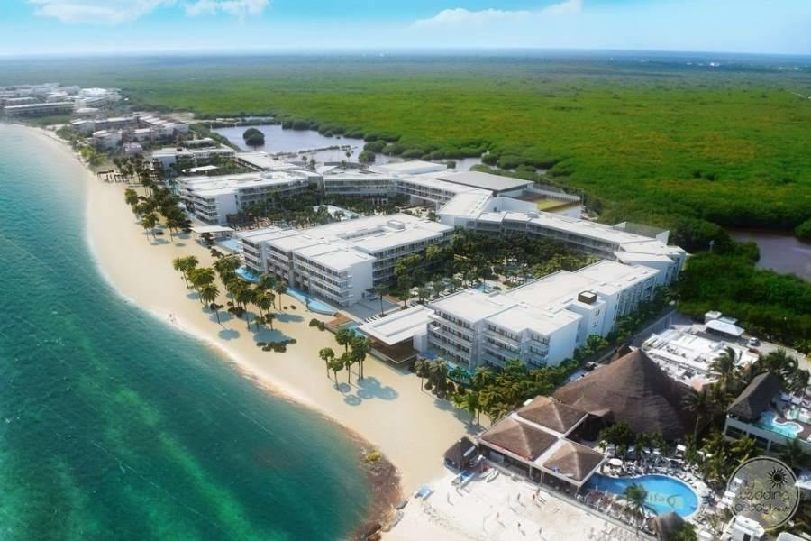 Breathless Riviera Cancun View of Resort