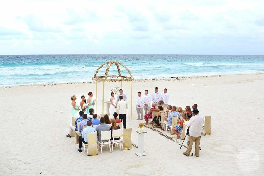 Hard Rock Hotel Cancun Beach Wedding Ceremony